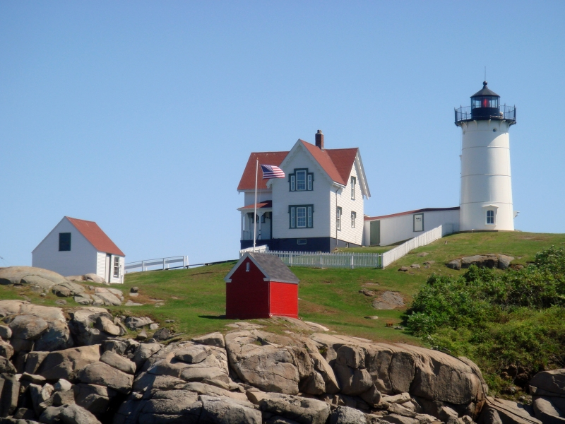Nubble lighthouse desktop wallpaper for What state has the most lighthouses