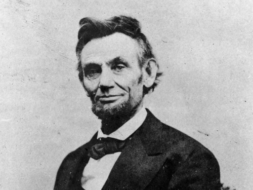 Abraham Lincoln, the 16th president of the United States, as photographed by Alexander Gardner in April 1865.