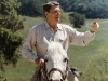 Ronald Reagan on Horseback