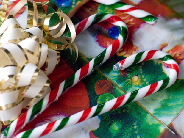Candy Canes And Present