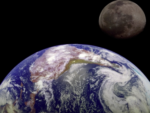 earth and moon together - photo #27